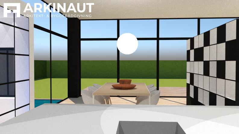 Tilbygning med højt til loftet - Arkinaut Arkitekt- og Byggerådgivning ApS 3