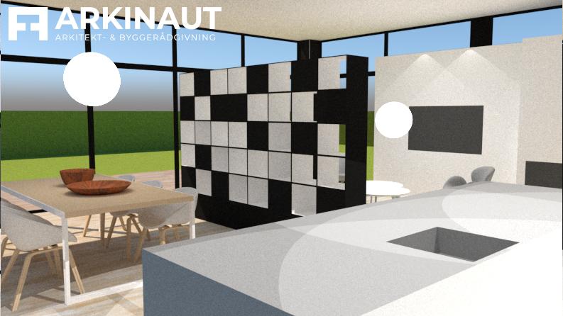 Tilbygning med højt til loftet - Arkinaut Arkitekt- og Byggerådgivning ApS 4