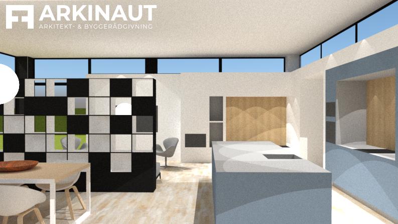 Tilbygning med højt til loftet - Arkinaut Arkitekt- og Byggerådgivning ApS 5