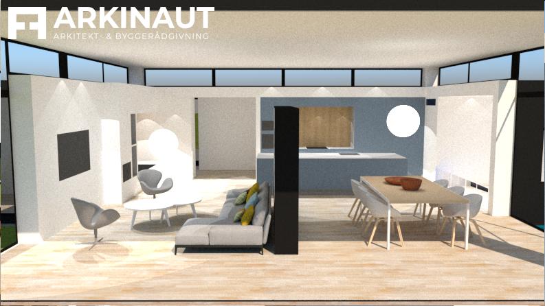Tilbygning med højt til loftet - Arkinaut Arkitekt- og Byggerådgivning ApS 6