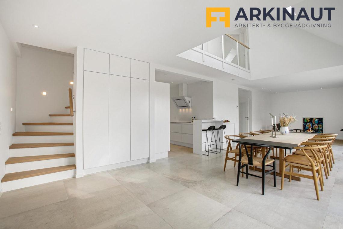 Ny førstesal med dobbelthøjt rum - Arkinaut Arkitekt- og byggerådgivning ApS 14