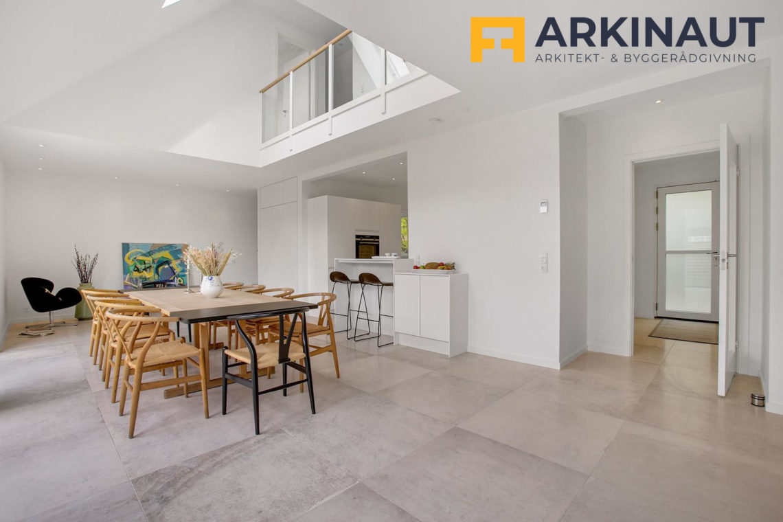 Ny førstesal med dobbelthøjt rum - Arkinaut Arkitekt- og byggerådgivning ApS 13