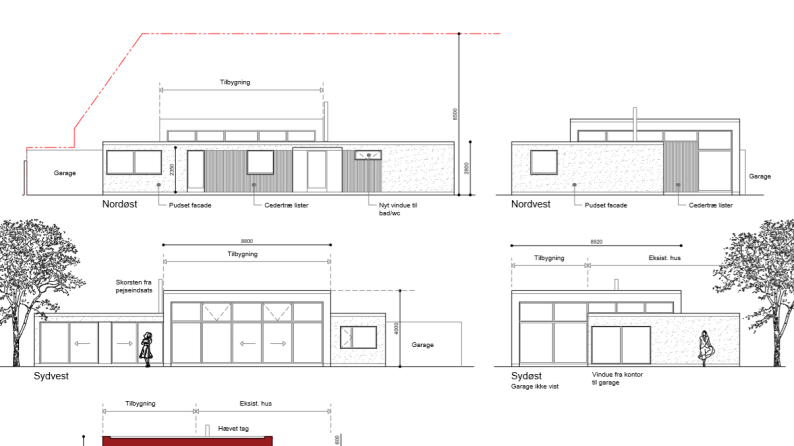 Tilbygning med højt til loftet - Arkinaut Arkitekt- og Byggerådgivning ApS 8