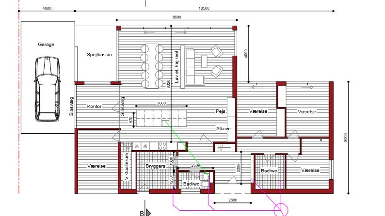 Tilbygning med højt til loftet - Arkinaut Arkitekt- og Byggerådgivning ApS 9