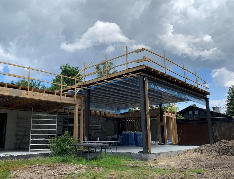 Tilbygning med stort centralrum - Arkinaut Arkitekt- og byggerådgivning ApS