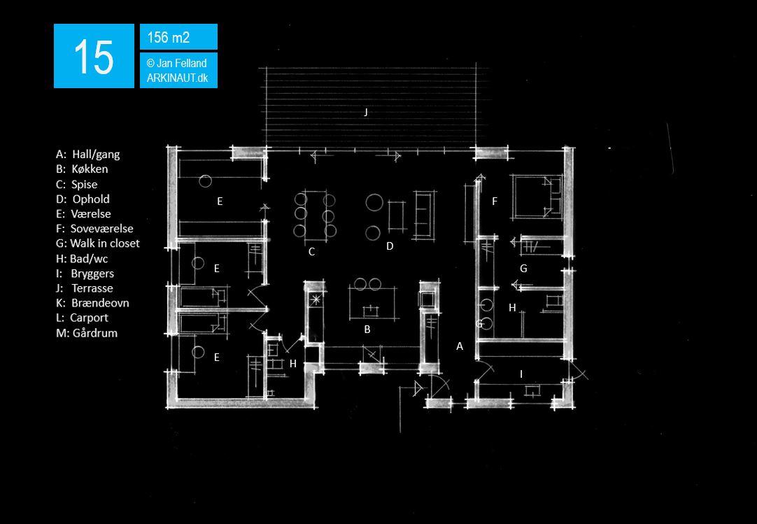 Arkitekttegnet hus Plplantegning anløsning 15 Arkinaut Arkitekter ApS