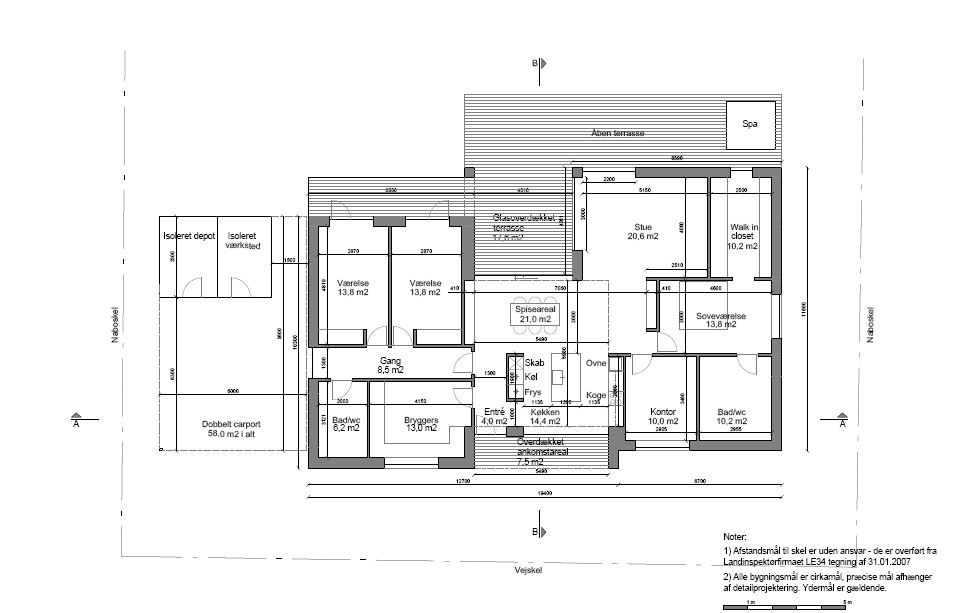Ny villa i Jyllinge 04 plantegning - Arkinaut Arkitekter ApS
