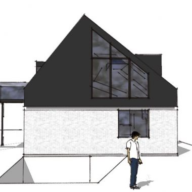 Ny første sal på del af taget