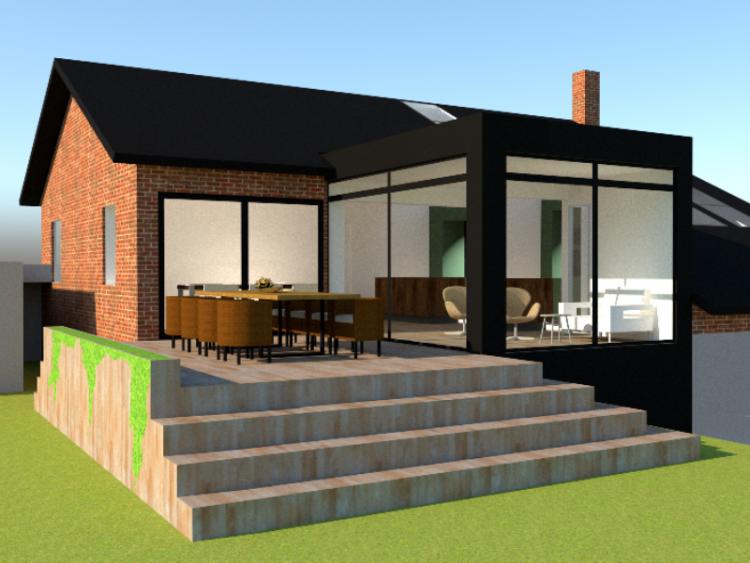 Tilbygning og køkken/alrum - Arkinaut Arkitekt- og byggerådgivning ApS 3