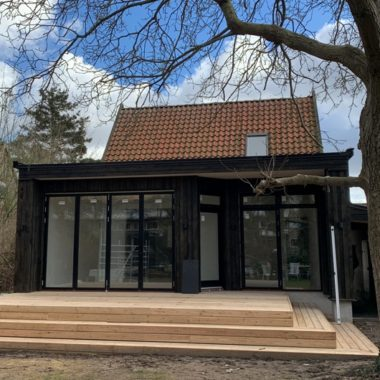 Tilbygning til træhus - Arkinaut Arkitekt- og byggerådgivning ApS