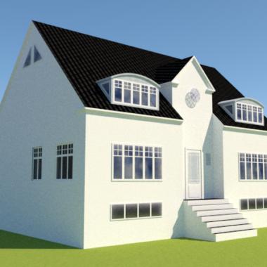 Ny første sal og ny stil på gulstens hus - Arkinaut Arkitekt- og byggerådgivning ApS 4