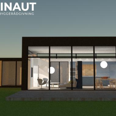Tilbygning med højt til loftet - Arkinaut Arkitekt- og Byggerådgivning ApS
