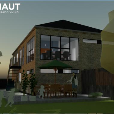 Tofamiliehus i to etager - Arkinaut Arkitekt- og byggerådgivning ApS 3